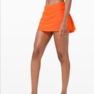 Lululemon orange skort in EUC size 6